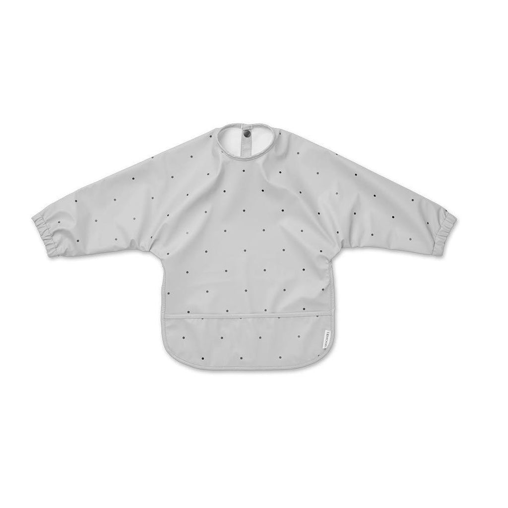 Liewood Merle Cape Bib - Classic Dot Dumbo Grey-Bibs- Natural Baby Shower