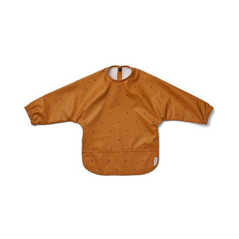 Liewood Merle Cape Bib - Classic Dot Mustard-Bibs- Natural Baby Shower