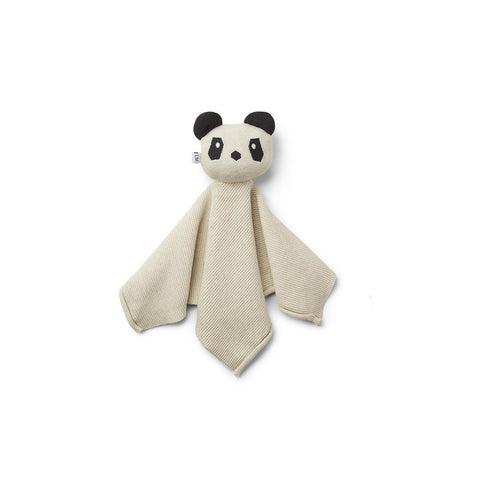 Liewood Milo Cuddle Cloth - Panda - Beige Beauty-Comforters- Natural Baby Shower