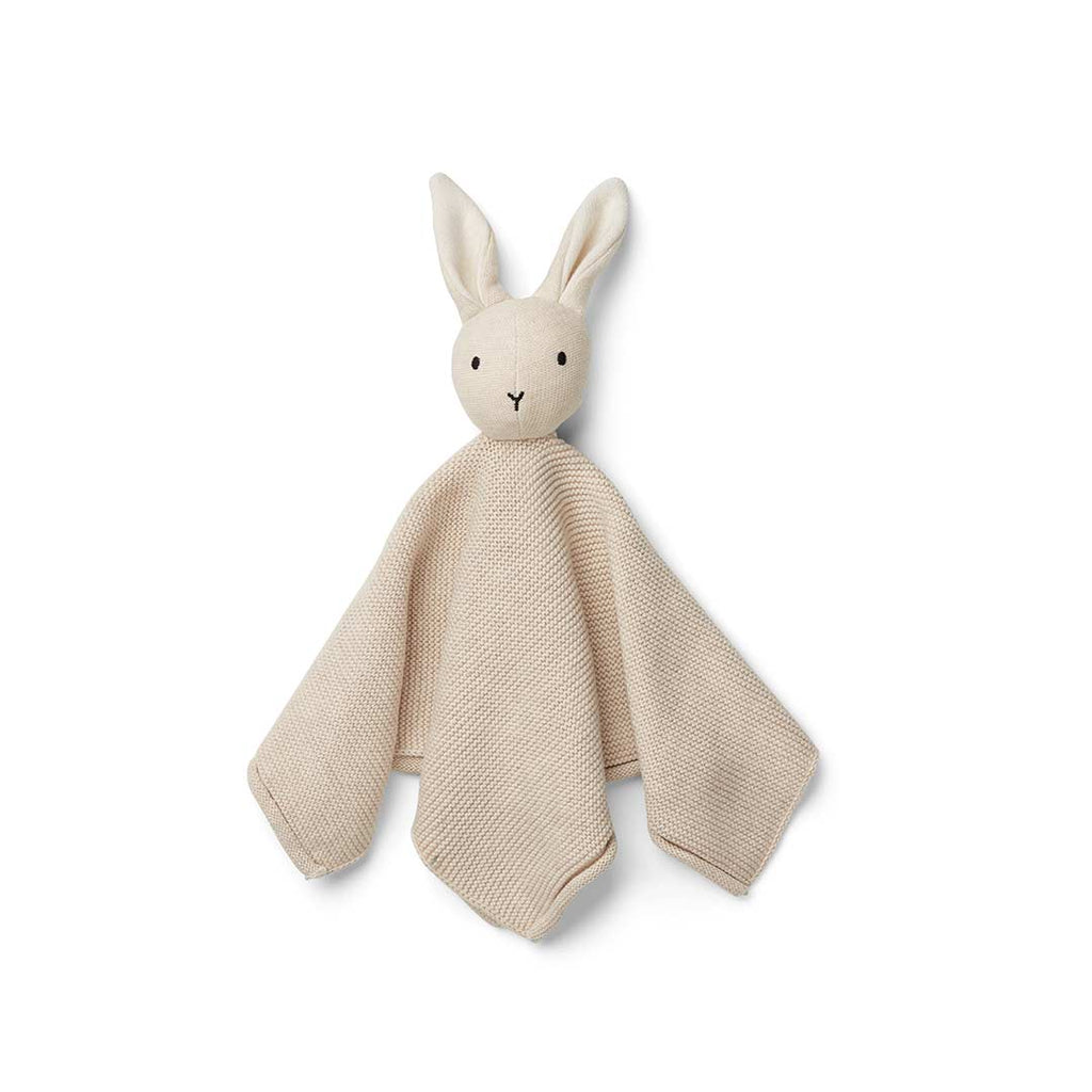 Liewood Milo Rabbit Knit Cuddle Cloth - Beige Beauty-Comforters- Natural Baby Shower