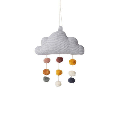 Liewood Mimi Cloud Mobile - Grey Melange-Baby Mobiles- Natural Baby Shower