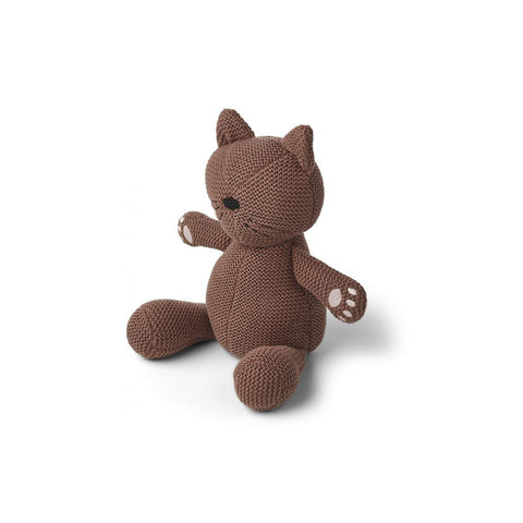 Liewood Missy Knit Teddy - Cat - Dark Rose-Soft Toys- Natural Baby Shower