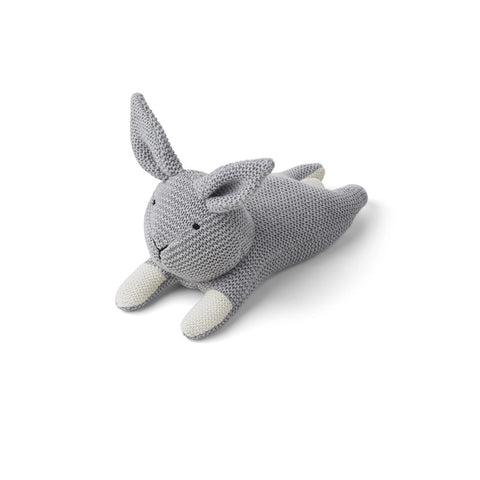 Liewood Missy Knit Teddy - Rabbit - Grey Melange-Soft Toys- Natural Baby Shower