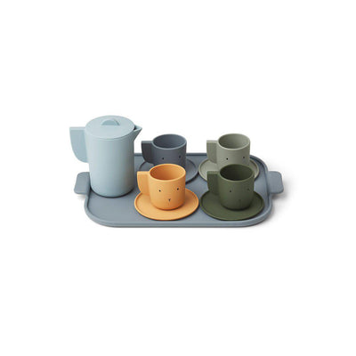 Liewood Ophelia Tea Set - Blue Multi Mix-Play Sets- Natural Baby Shower