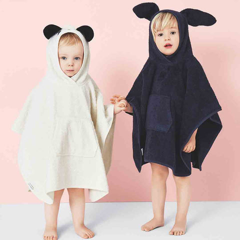 Liewood Orla Rabbit Poncho - Dumbo Grey Lifestyle