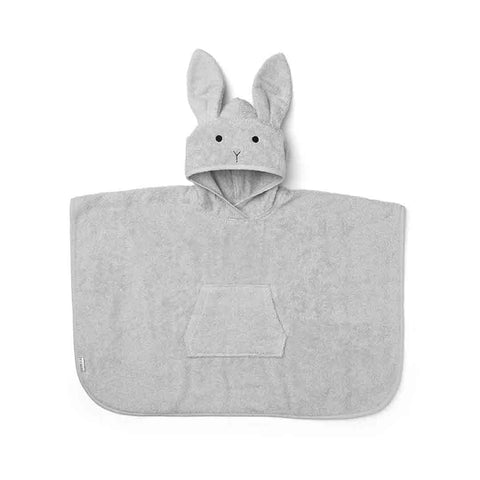 Liewood Orla Rabbit Poncho - Dumbo Grey