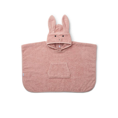 Liewood Orla Rabbit Poncho - Rose-Towels & Robes- Natural Baby Shower