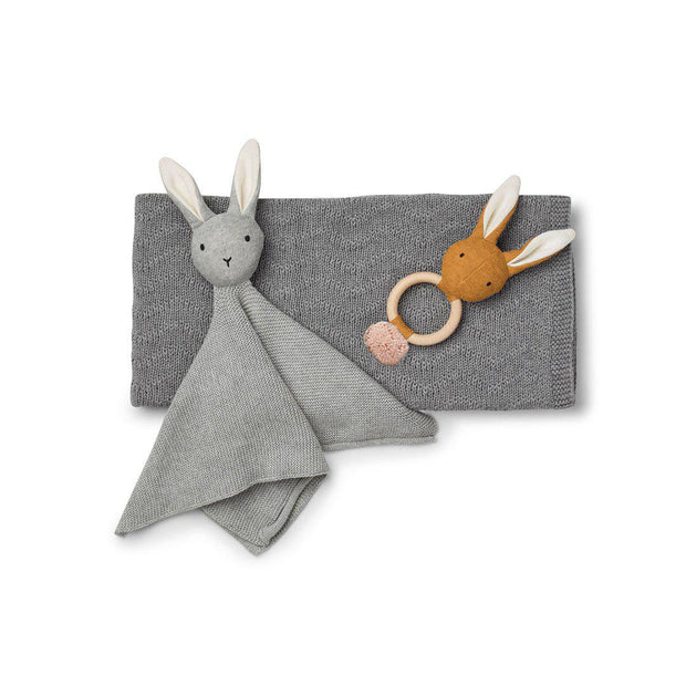 Liewood Petra Baby Knit Package - Grey Melange-Gift Sets- Natural Baby Shower