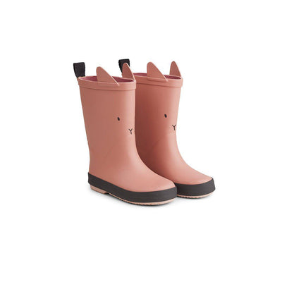 Liewood Rio Rain Boots - Rabbit - Dark Rose-Wellies- Natural Baby Shower