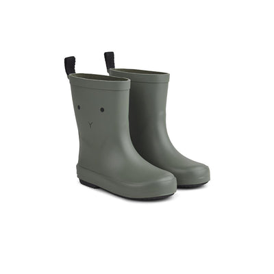 Liewood Rio Rain Boots - Rabbit - Faune Green-Wellies- Natural Baby Shower