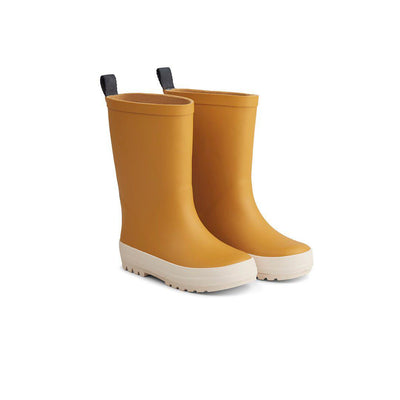 Liewood River Rain Boots - Yellow Mellow/Creme de la Creme-Wellies- Natural Baby Shower