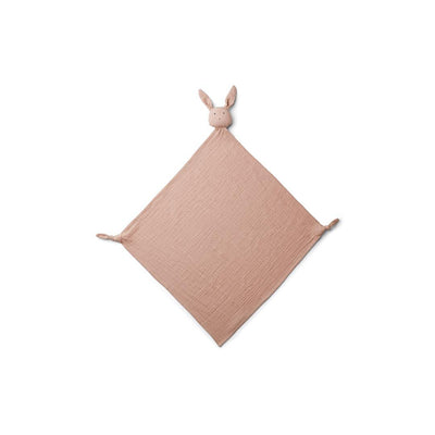 Liewood Robbie Muslin Cloth - Rabbit - Rose-Muslin Squares- Natural Baby Shower