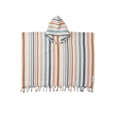 Liewood Roomie Poncho - Multi-Towels & Robes- Natural Baby Shower