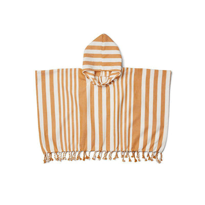 Liewood Roomie Poncho - Mustard/Creme de la Creme-Towels & Robes- Natural Baby Shower