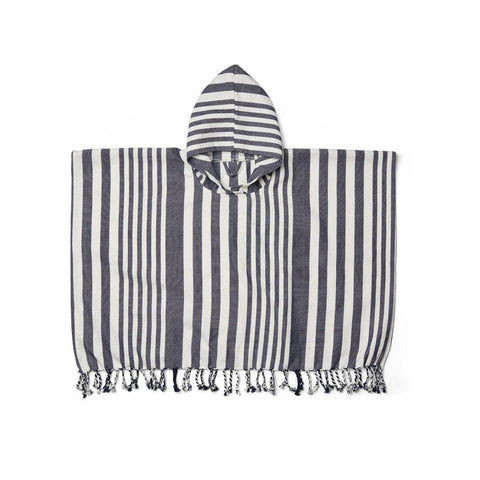 Liewood Roomie Poncho - Navy/Creme de la Creme-Towels & Robes- Natural Baby Shower