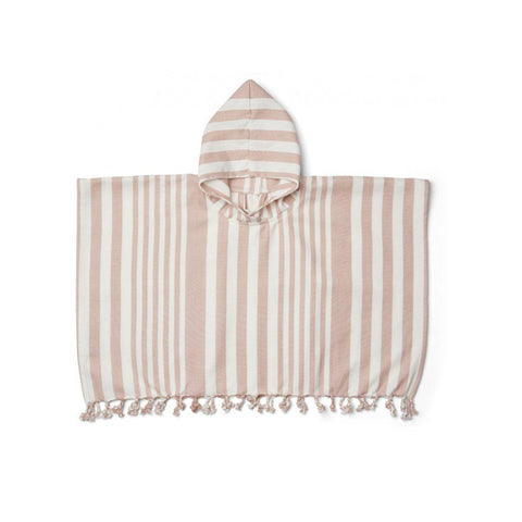 Liewood Roomie Poncho - Rose/Creme de la Creme-Towels & Robes- Natural Baby Shower