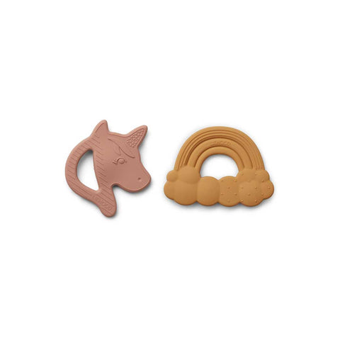 Liewood Roxie Silicone Teether - Rose Mix - 2 Pack-Teethers- Natural Baby Shower