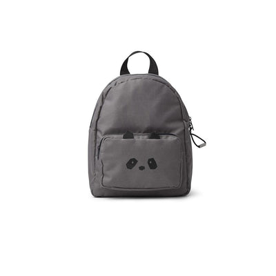 Liewood Saxo Mini Backpack - Panda - Stone Grey-Children's Bags- Natural Baby Shower