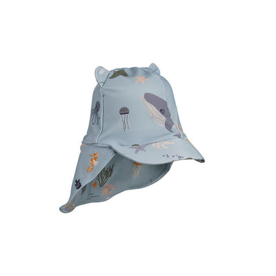 Liewood Senia Sun Hat - Sea Creature Mix-Hats- Natural Baby Shower