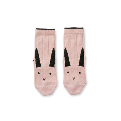 Liewood Silas Rabbit Socks - Rose-Socks- Natural Baby Shower