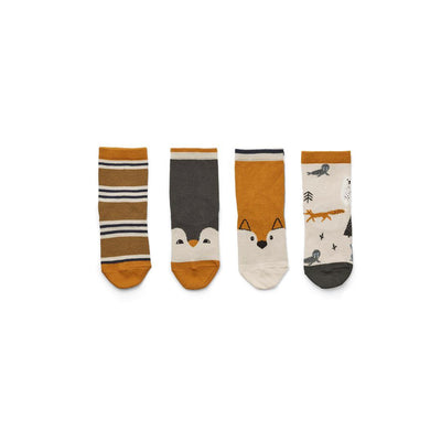 Liewood Silas Socks - 4 Pack - Arctic Mix-Socks- Natural Baby Shower