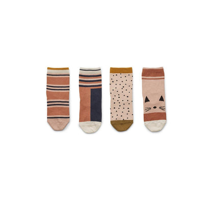 Liewood Silas Socks - Rose Multi Mix - 4 Pack-Socks- Natural Baby Shower