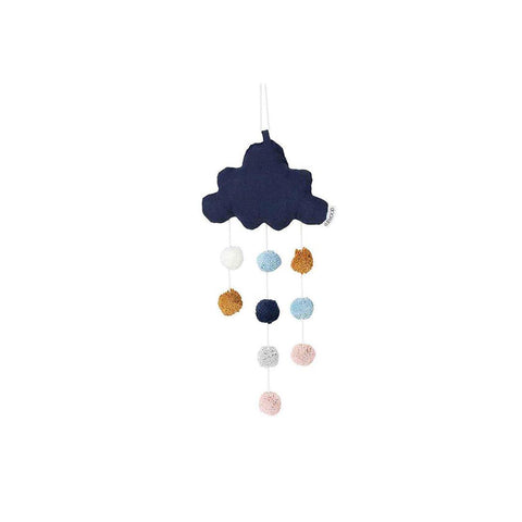 Liewood Small Clara Cloud Mobile - Navy-Baby Mobiles- Natural Baby Shower