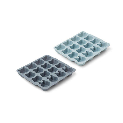 Liewood Sonny Ice Cube Tray - Blue Mix - 2 Pack-Food Storage- Natural Baby Shower
