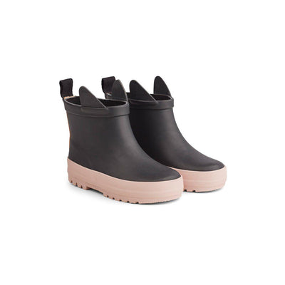 Liewood Tekla Rain Boots - Black/Rose Mix-Wellies- Natural Baby Shower