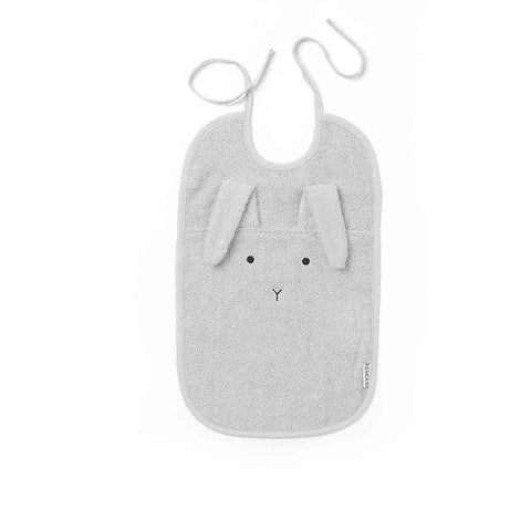 Liewood Theo Rabbit Bib - Dumbo Grey-Bibs- Natural Baby Shower