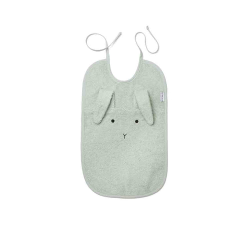Liewood Theo Rabbit Bib - Dusty Mint-Bibs- Natural Baby Shower