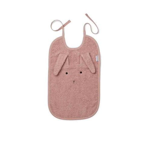 Liewood Theo Rabbit Bib - Rose-Bibs- Natural Baby Shower