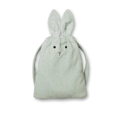 Liewood Thor Rabbit Terry Back Pack - Dusty Mint-Children's Bags- Natural Baby Shower