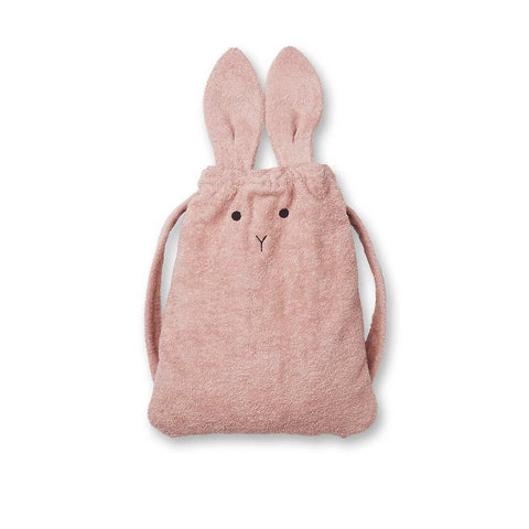 Liewood Thor Rabbit Terry Back Pack - Rose-Children's Bags- Natural Baby Shower
