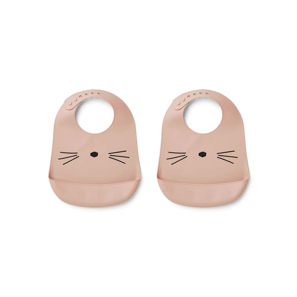 Liewood Tilda Silicone Bibs - 2 Pack - Rose-Bibs- Natural Baby Shower