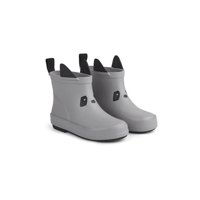 Liewood Tobi Rain Boots - Panda - Dumbo Grey-Wellies- Natural Baby Shower