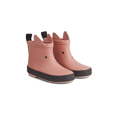 Liewood Tobi Rain Boots - Rabbit - Dark Rose-Wellies- Natural Baby Shower