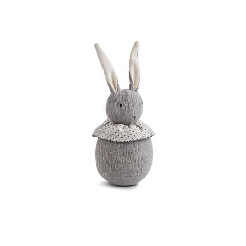 Liewood Valdemar Rabbit Knit Doll - Grey Melange-Soft Toys- Natural Baby Shower