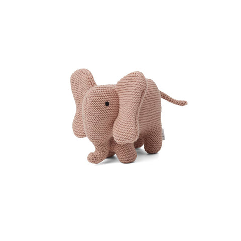 Liewood Vigga Knit Mini Teddy - Elephant - Rose-Soft Toys- Natural Baby Shower