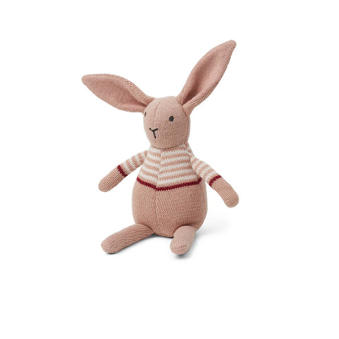 Liewood Vigga Knit Mini Teddy - Rabbit - Rose-Soft Toys- Natural Baby Shower