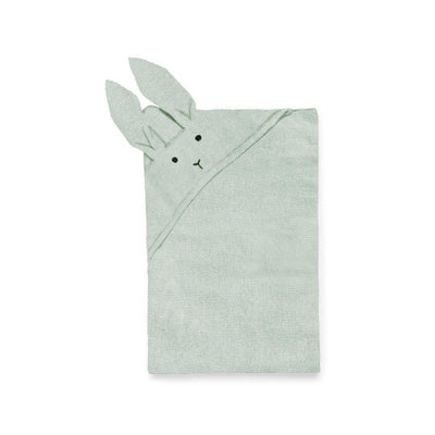 Liewood Willie Rabbit Knit Blanket - Dusty Mint-Blankets- Natural Baby Shower
