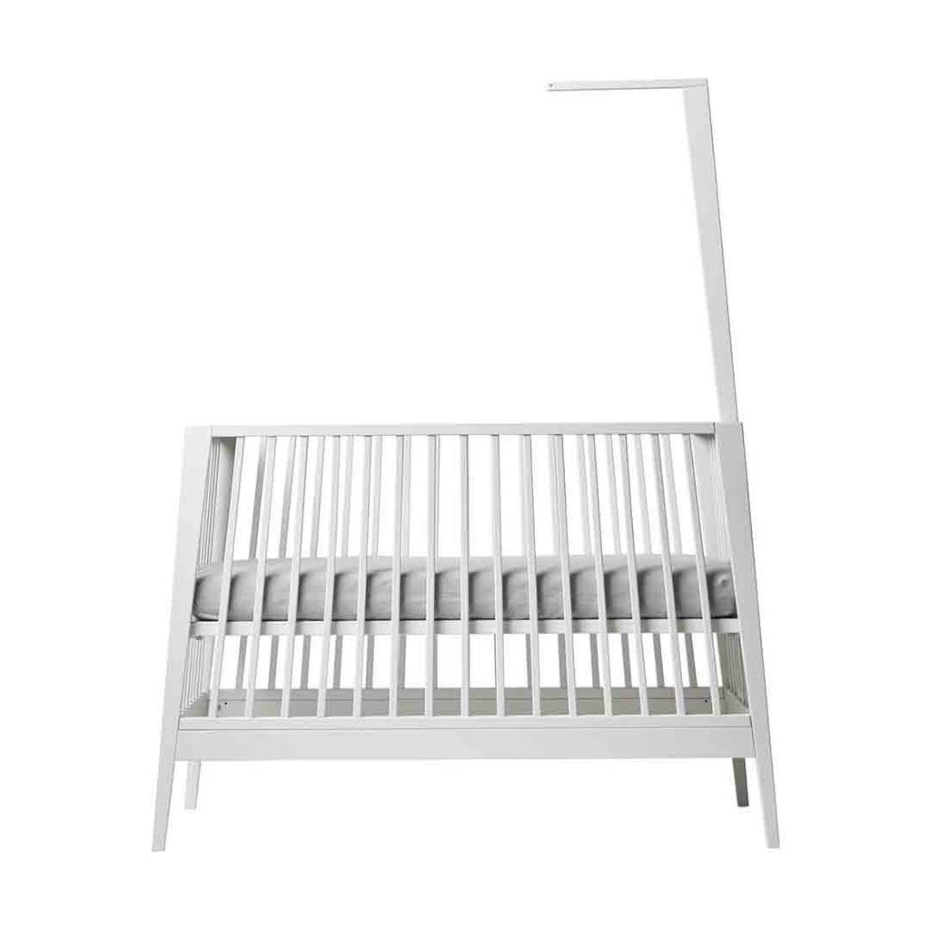 Linea by Leander Baby Cot Canopy Stick - White-Nursery Accessories- Natural Baby Shower