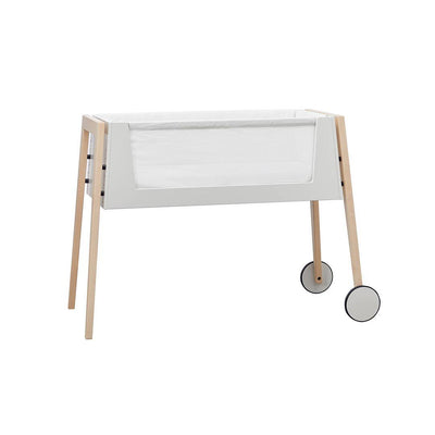 Linea by Leander Side-by-Side Bed & Mattress - Beech-Cot Beds- Natural Baby Shower
