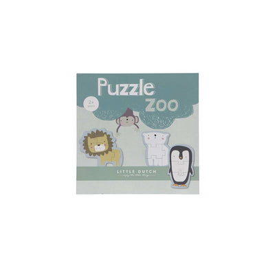 Little Dutch Animal Puzzle - Zoo - 6 Pcs-Puzzles- Natural Baby Shower
