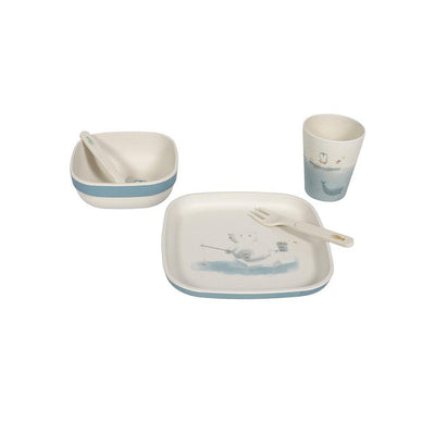 Little Dutch Bamboo Tableware Set - Polar-Feeding Sets- Natural Baby Shower