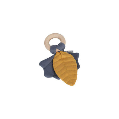 Little Dutch Crinkle Toy Leaves - Yellow/Blue-Teethers- Natural Baby Shower