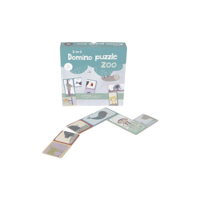 Little Dutch Domino Puzzle - Zoo-Puzzles- Natural Baby Shower