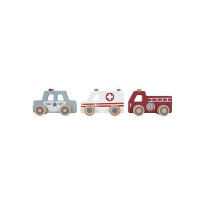 Little Dutch Emergency Service Vehicles-Play Sets- Natural Baby Shower