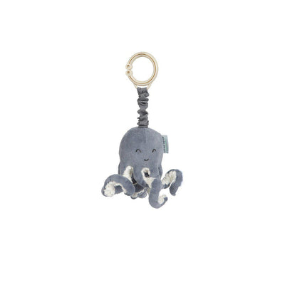 Little Dutch Pull-And-Shake Octopus - Ocean Blue-Clip Toys-Ocean Blue- Natural Baby Shower