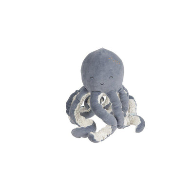Little Dutch Small Cuddly Toy Octopus - Ocean Blue-Soft Toys-Ocean Blue- Natural Baby Shower